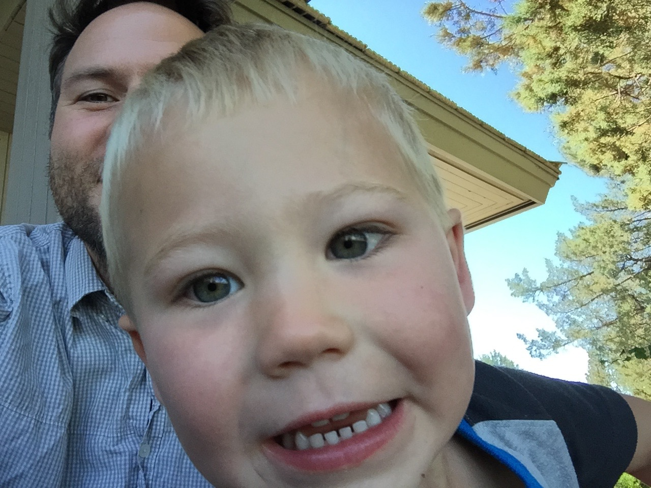 Joshua Marie Wilkinson with nephew in Bend, OR 2015
