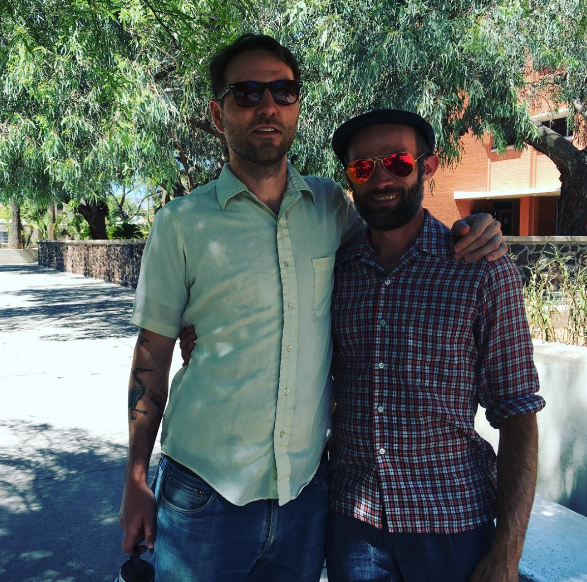 Joshua Marie Wilkinson and Abraham Smith in Tucson 2016