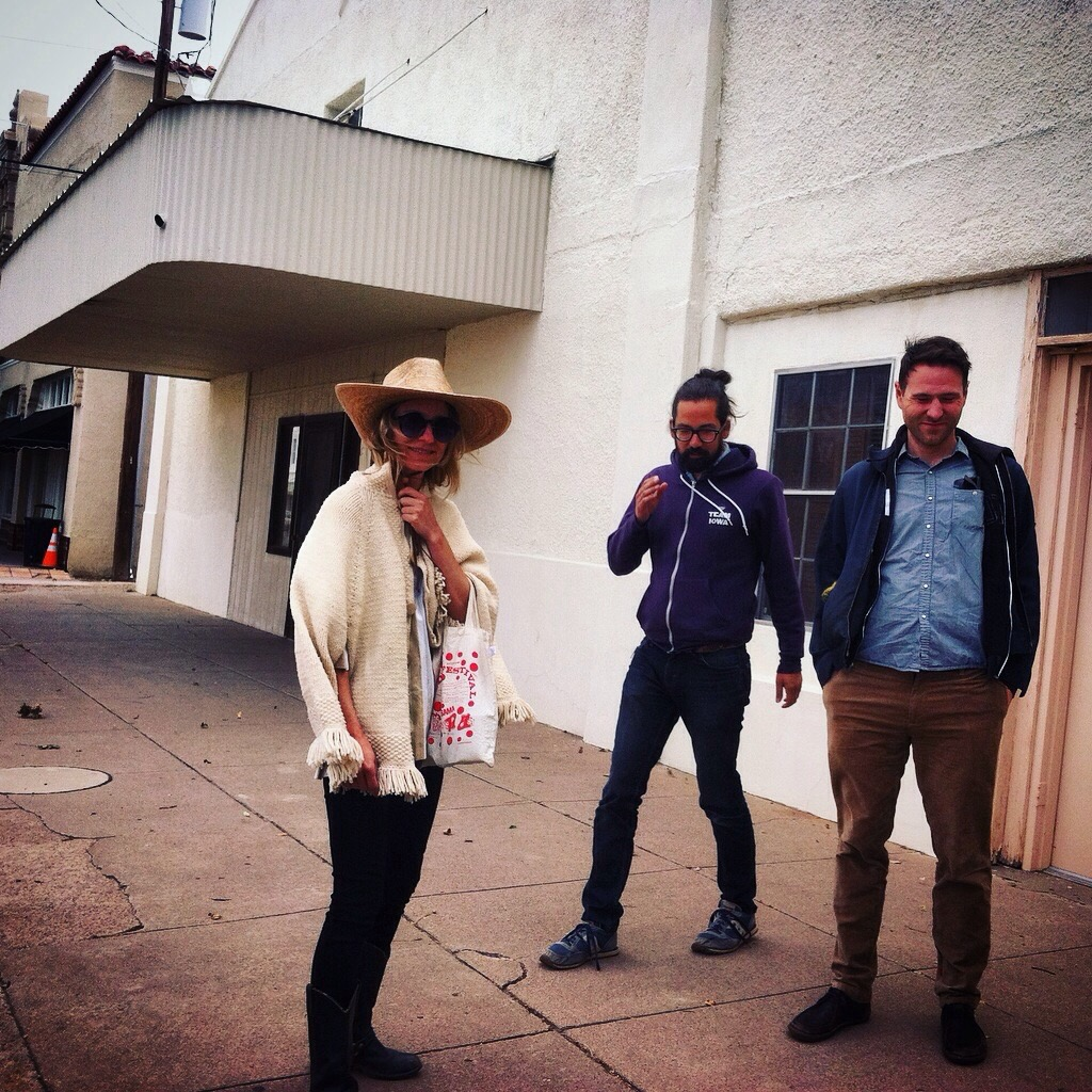 Joshua Marie Wilkinson with Dot Devota & Brandon Shimoda in Marfa, TX 2015 (Photo by Lisa Wells)